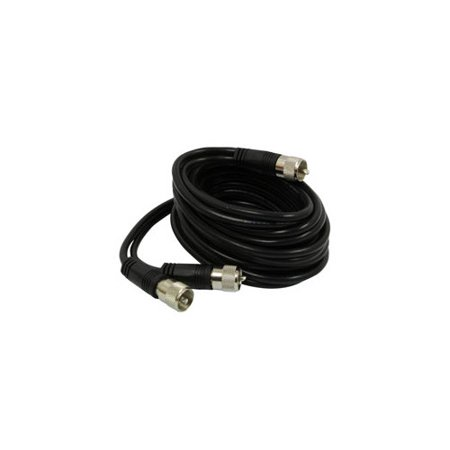 ROADPRO R RP-12CCP 12     CB ANTENNA CO-PHASE COAX CABLE WITH  3  PL-259 CONNECTORS  BLACK