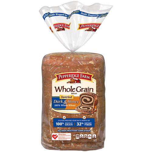 Pepperidge Farm Whole Grain Swirled Dark & Honey Bread, 24 oz