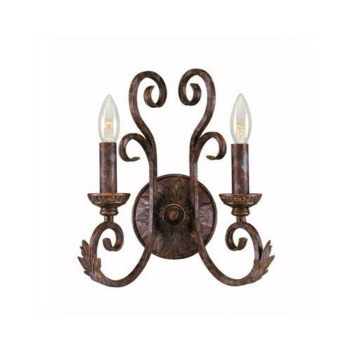 World Imports Medici 2 Light Wall Sconce