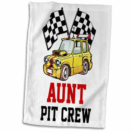 3dRose Pit Crew Aunt Funny Car Race Theme Birthday Party Host - Towel, 15 by 22-inch (Pitt Party)