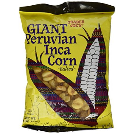 Corn Snacks (Trader Joe's Giant Peruvian Inca Corn Salted Crunchy Snack 8 Oz)
