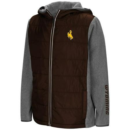 Youth Wyoming Cowboys Full Zip Puff Jacket - S - Diy Cowboy Vest
