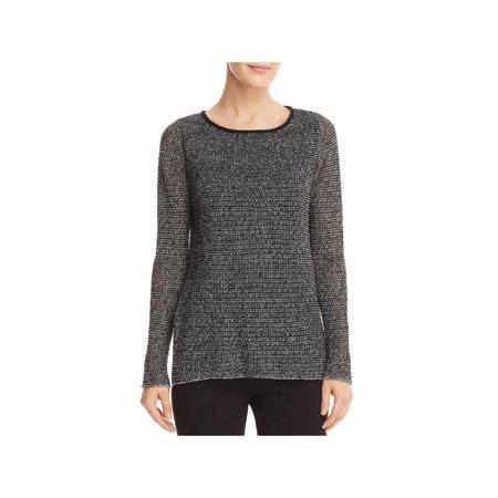 Eileen Fisher Womens Organic Linen Blend Long Sleeves Tunic Sweater ()