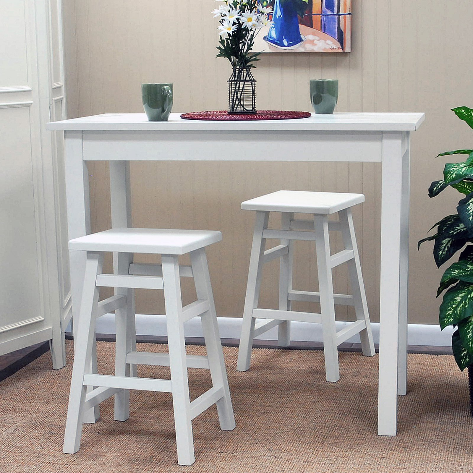 Carolina Tavern Pub Table - Antique White