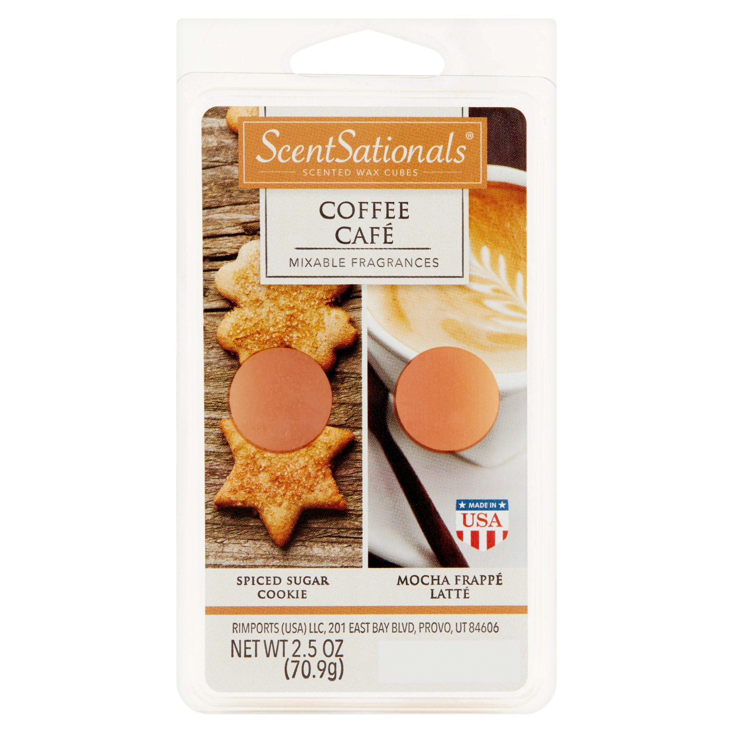ScentSationals Coffee Scented Wax Cubes, 2.5 oz