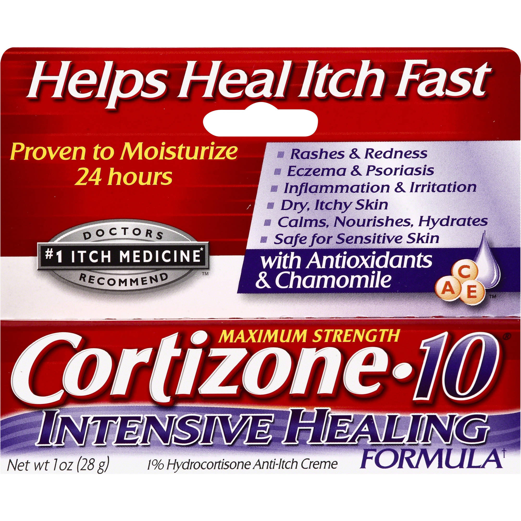 Cortizone Maximum Strength Intensive Healing Formula Creme, 1oz