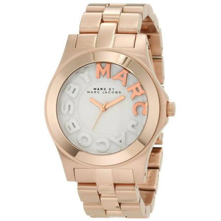 Marc MBM3135 Women's Rivera White Dial Rose Gold Tone Stainless Steel Bracelet Watch