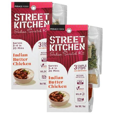 Indian Butter Chicken ((2 Pack) Street Kitchen Indian Butter Chicken Indian Scratch Kit, 9)