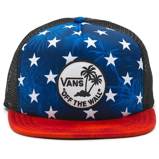b5babebb578 Vans - Vans Off The Wall Men s Surf Patch Stars Trucker Hat Cap ...