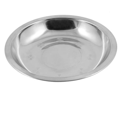 Camping 15.5cm Dia Stainless Steel Tableware Dinner Plate Dish Food Container ()