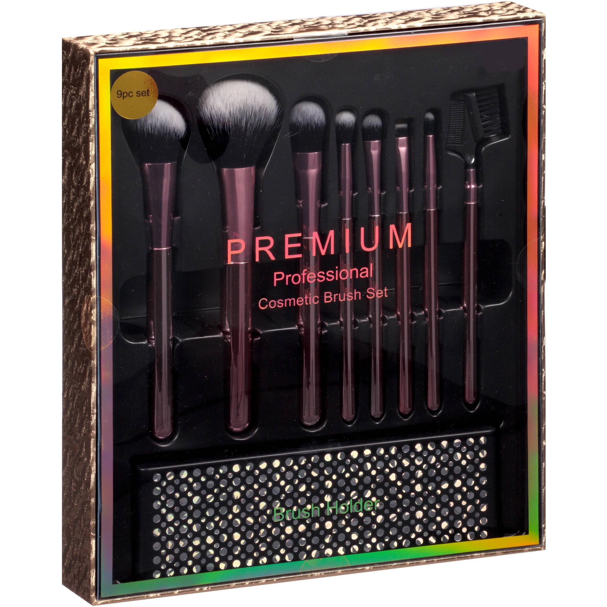 Professional Cosmetic Brush Gift Set, 9 pc - Walmart.com