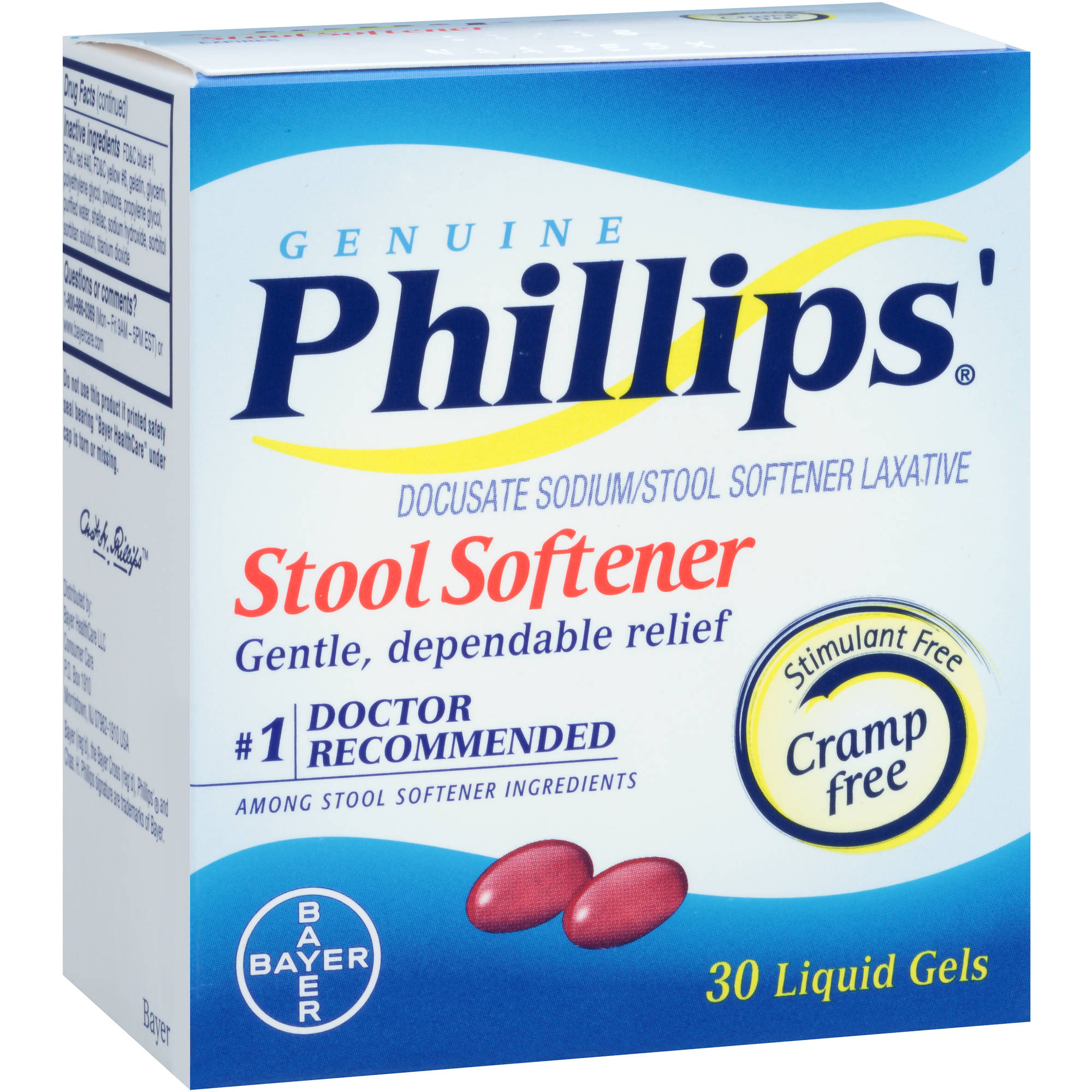 Phillips' Genuine Stool Softener Liquid Gels, 30 count