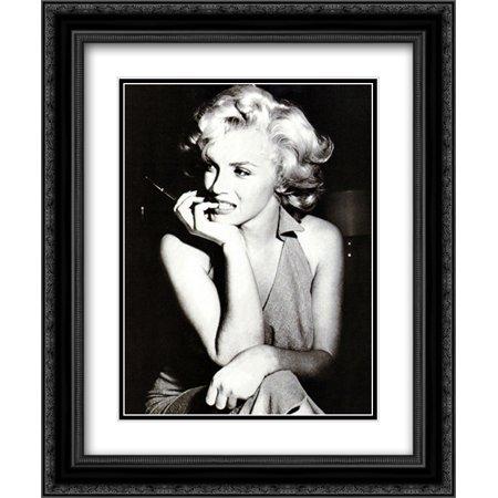 Marilyn Monroe, 1952 20x24 Double Matted Black Ornate Framed Movie ...