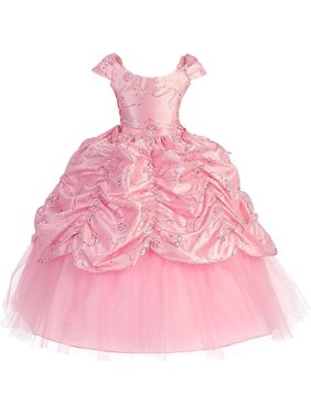7f3640d7e Product Image Girls Pink Cinderella Embroidered Pageant Dress 8-12. Product  TitleSophias StyleGirls ...