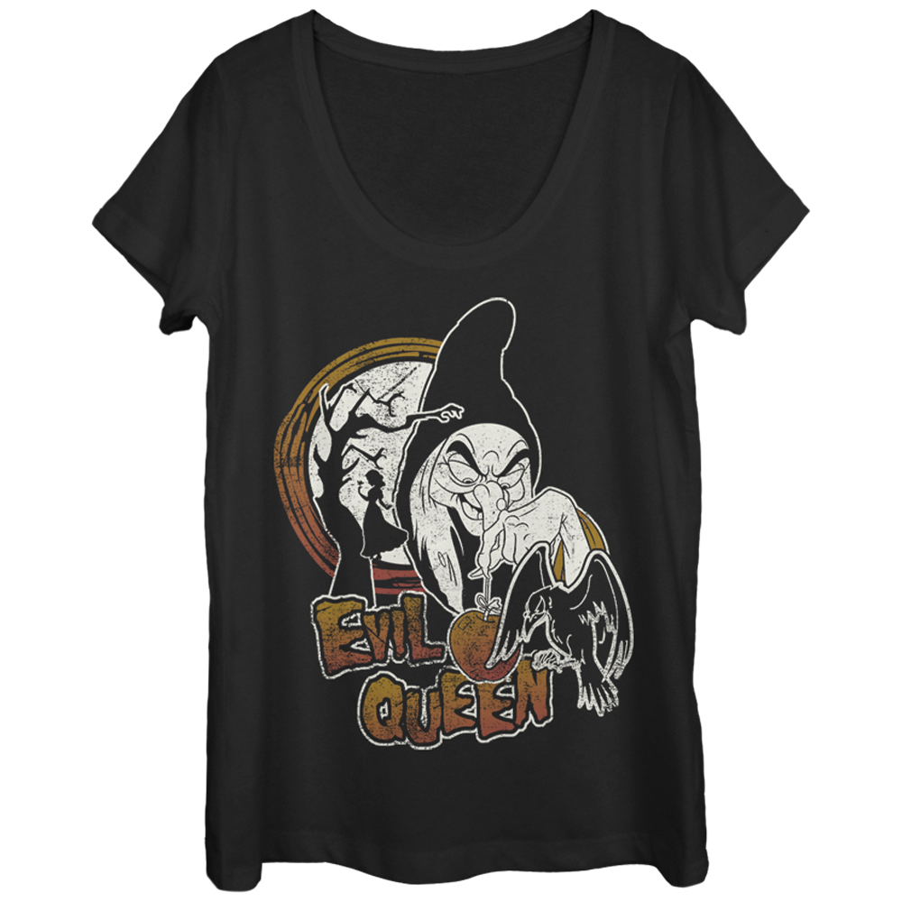 Snow White and the Seven Dwarves Evil Queen Womens Graphic Scoop Neck