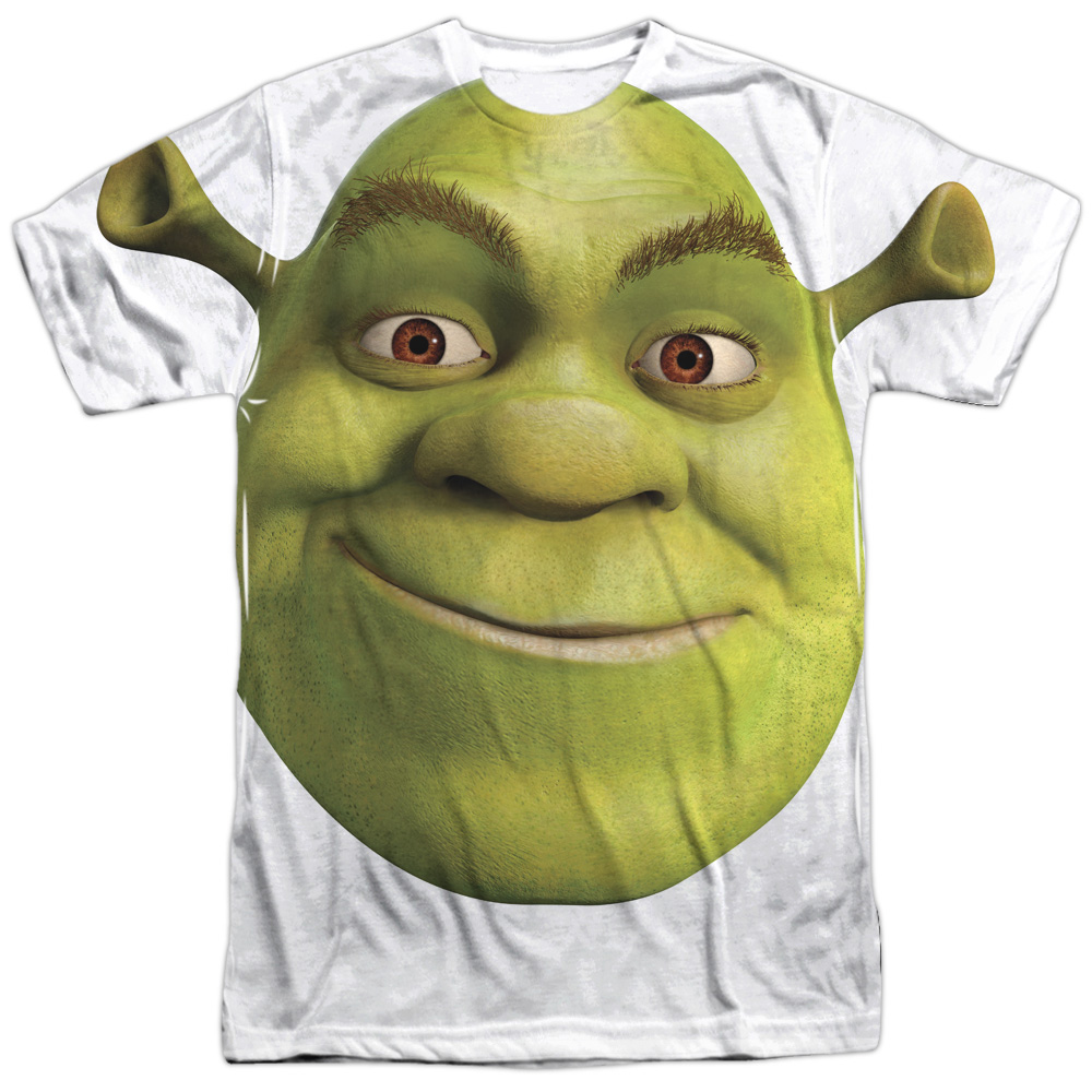 Shrek Animated Family Comedy Movie Giant Ogre Head Adult Front Print T-Shirt