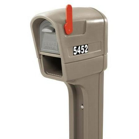 Step2 MailMaster Plus Mailbox, Stone Gray Plastic