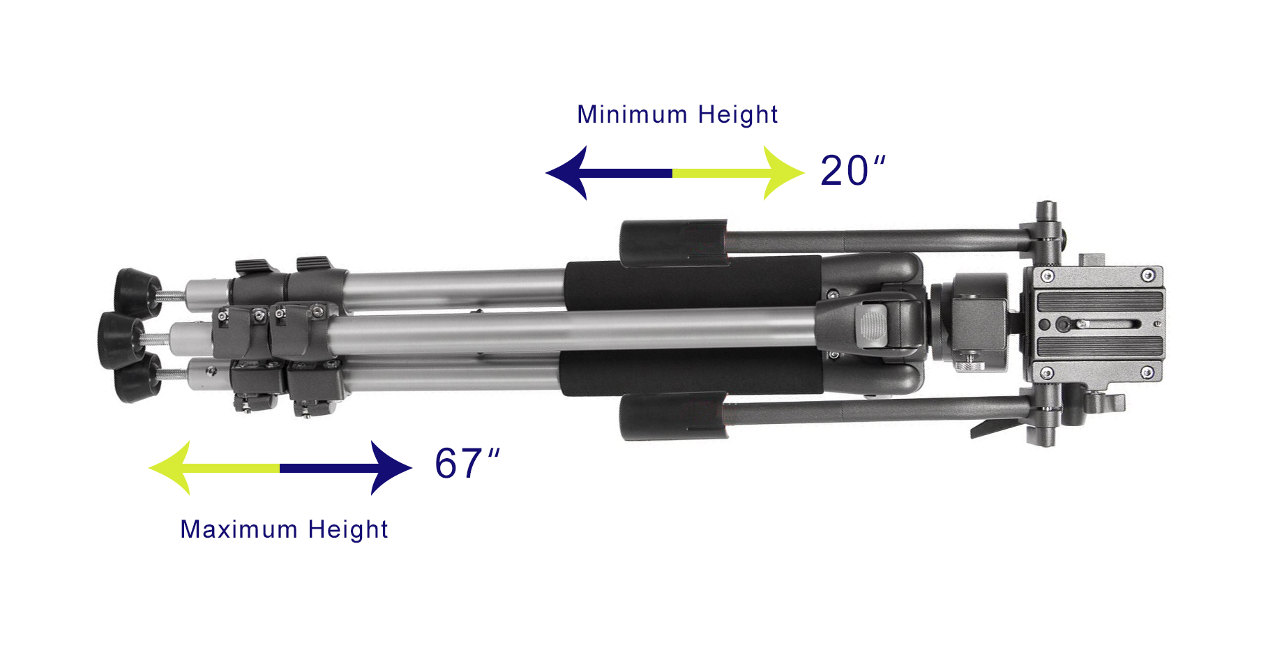 Bubble Level Professional Dual Handle Aluminum 67 Tripod for Panasonic Lumix DMC-LX3