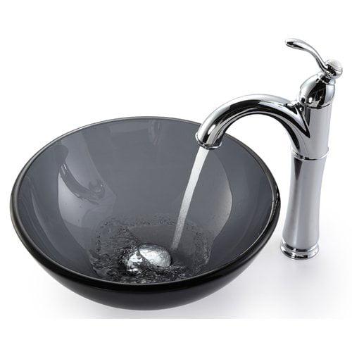 Kraus Vessel Bathroom Sink with Faucet