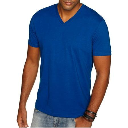 d15fa0906157 Next Level Apparel - Next Level Apparel 6440 Men's Sueded V T-Shirt - Royal  - 2X-Large - Walmart.com