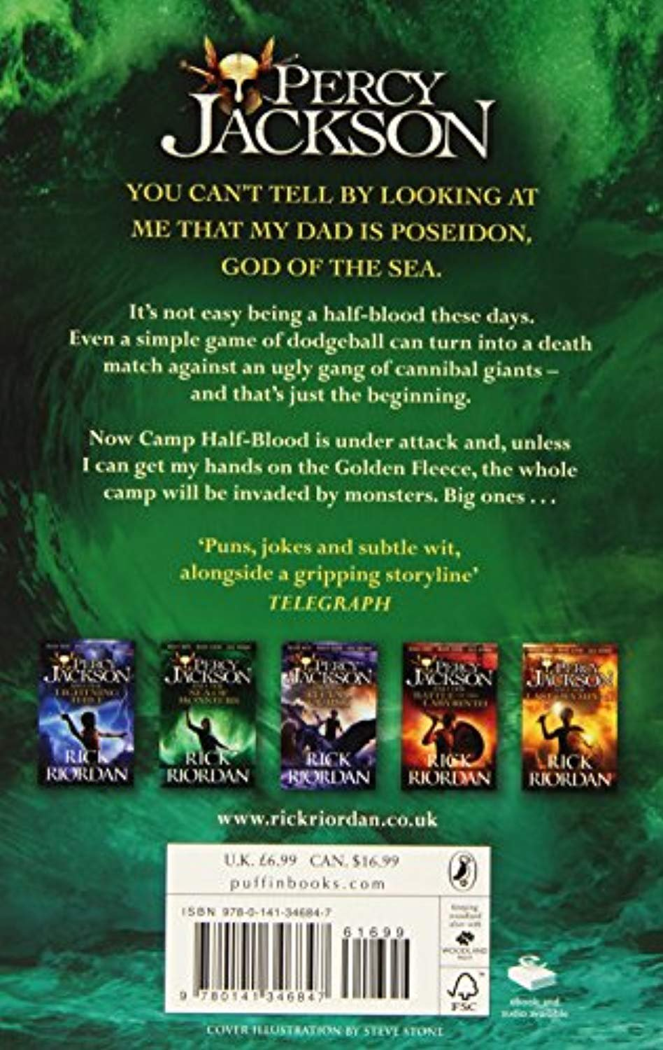 Percy Jackson and the Sea of Monsters (Book 2) (Paperback)