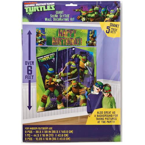 Teenage Mutant Ninja Turtles Wall Decorations, Party Supplies