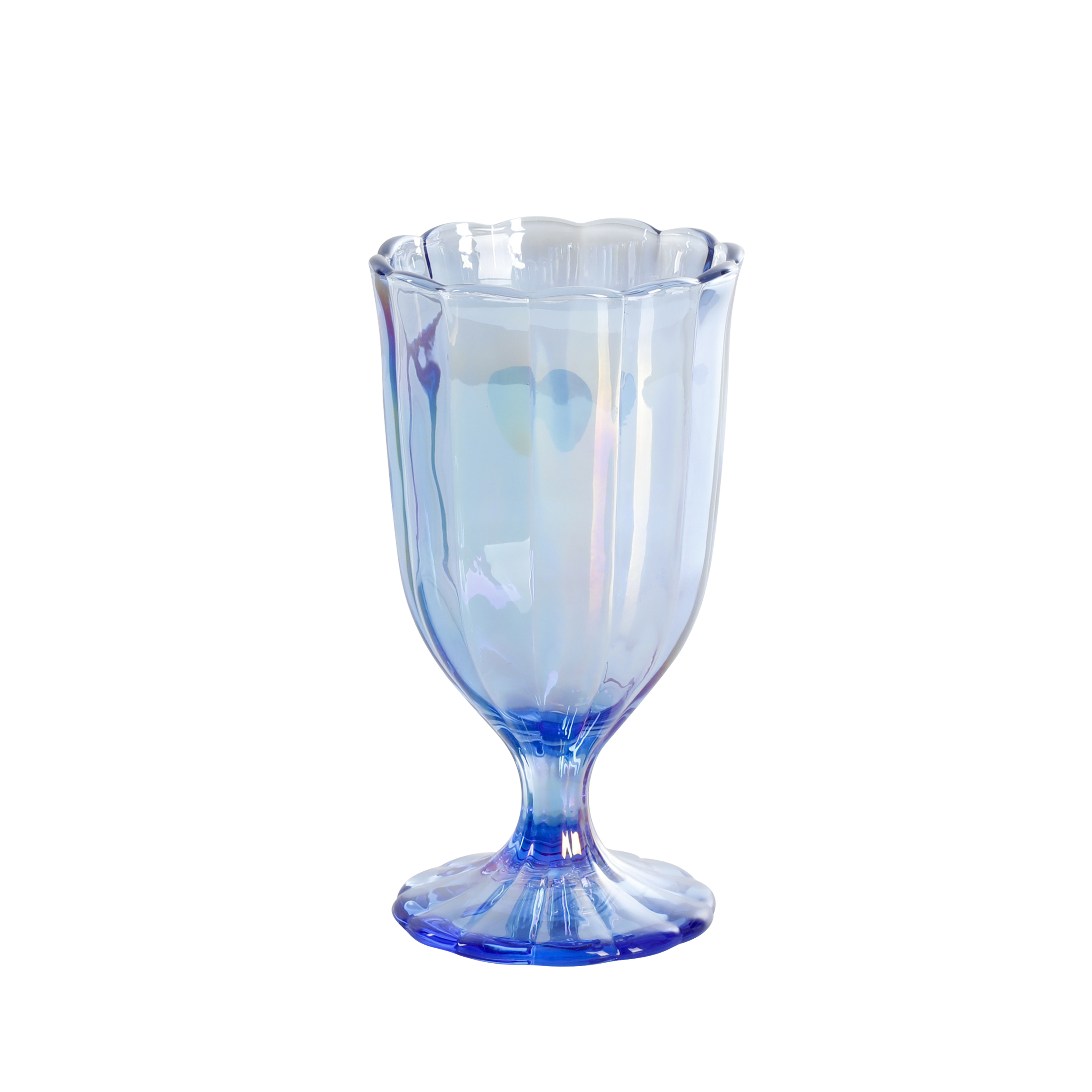 The Pioneer Woman Luster Blue 12.5oz Pearlized Goblet, Set of 4 ...