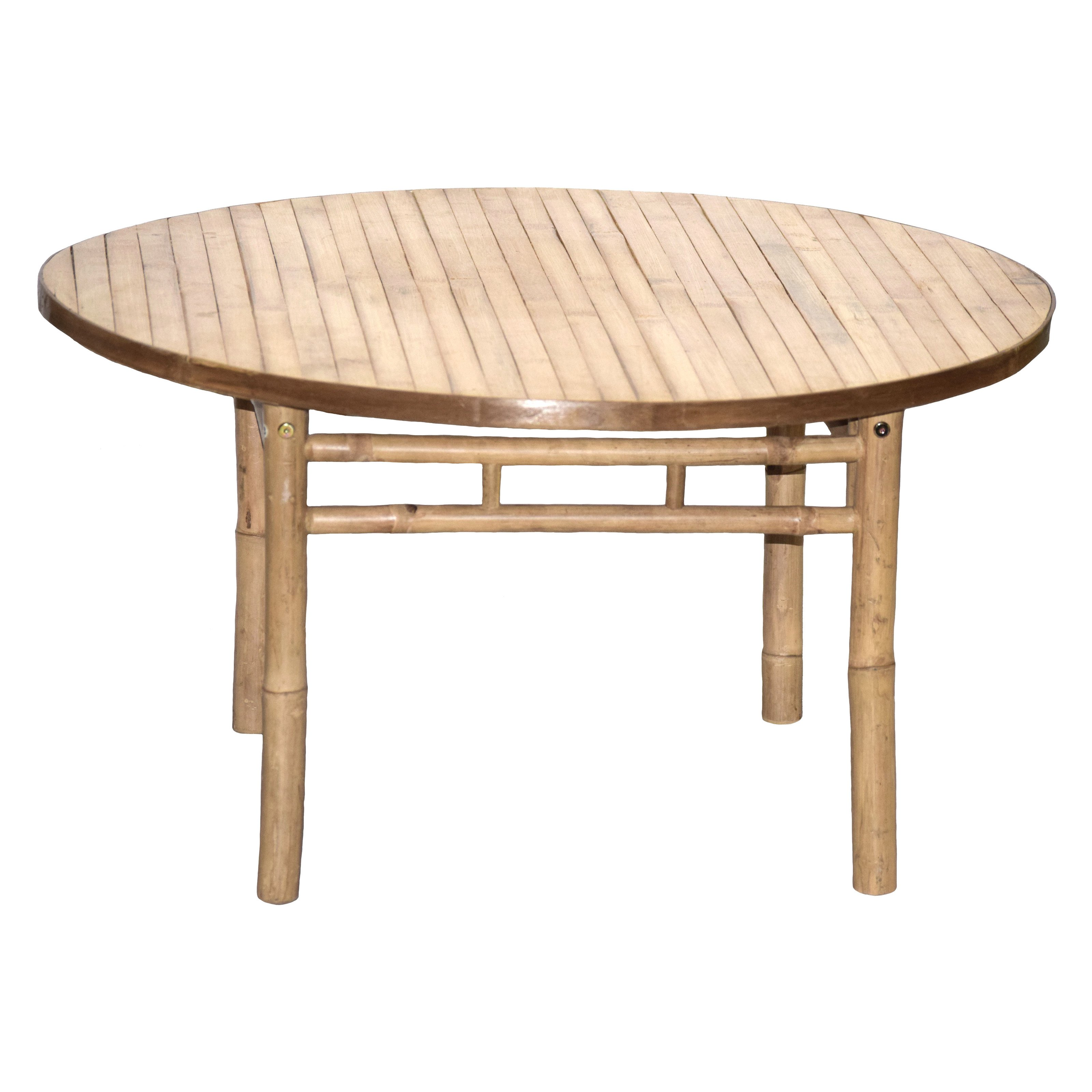 Bamboo54 KD Round Patio Dining Table