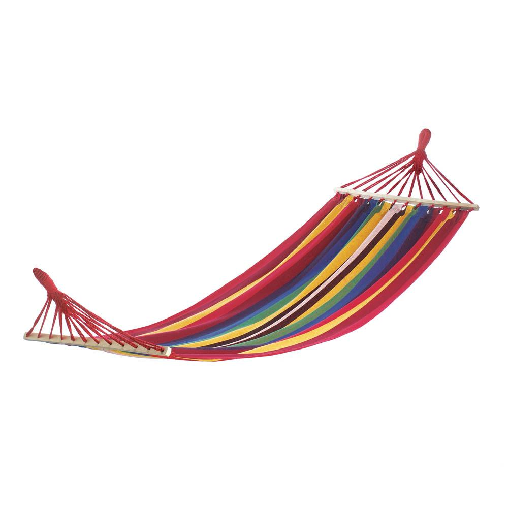 Striped Single Hammock Bed, Ultralight For Backpacking, Cotton