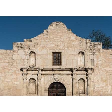 Doorway to the Alamo an 18th-century mission church in San Antonio TX Poster Print by Carol