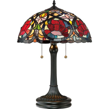 Quoizel Tf879t Larissa Small Glass Table Lamp 2 Light 130 Total
