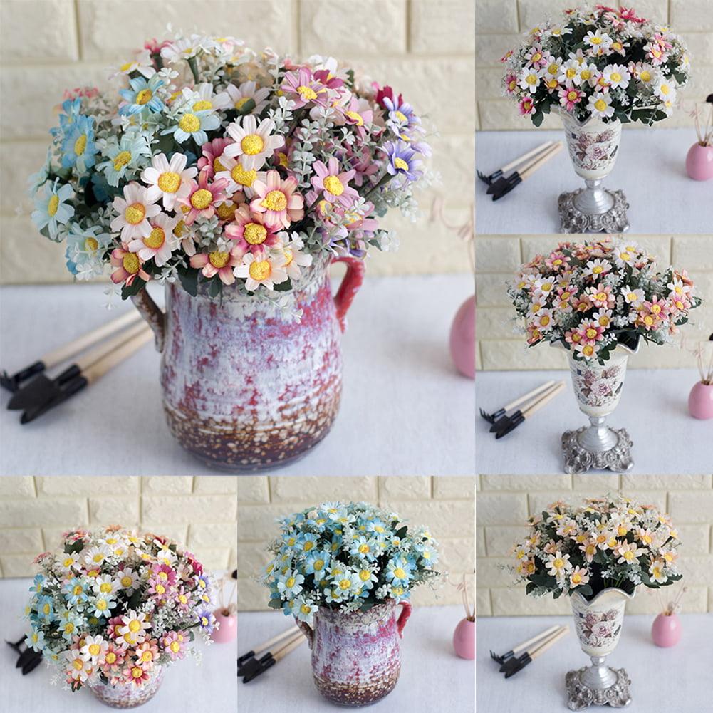 HiCoup 1 Bouquet Artificial Coreopsis Plastic Fake Flower Home Hotel Shop Decoration