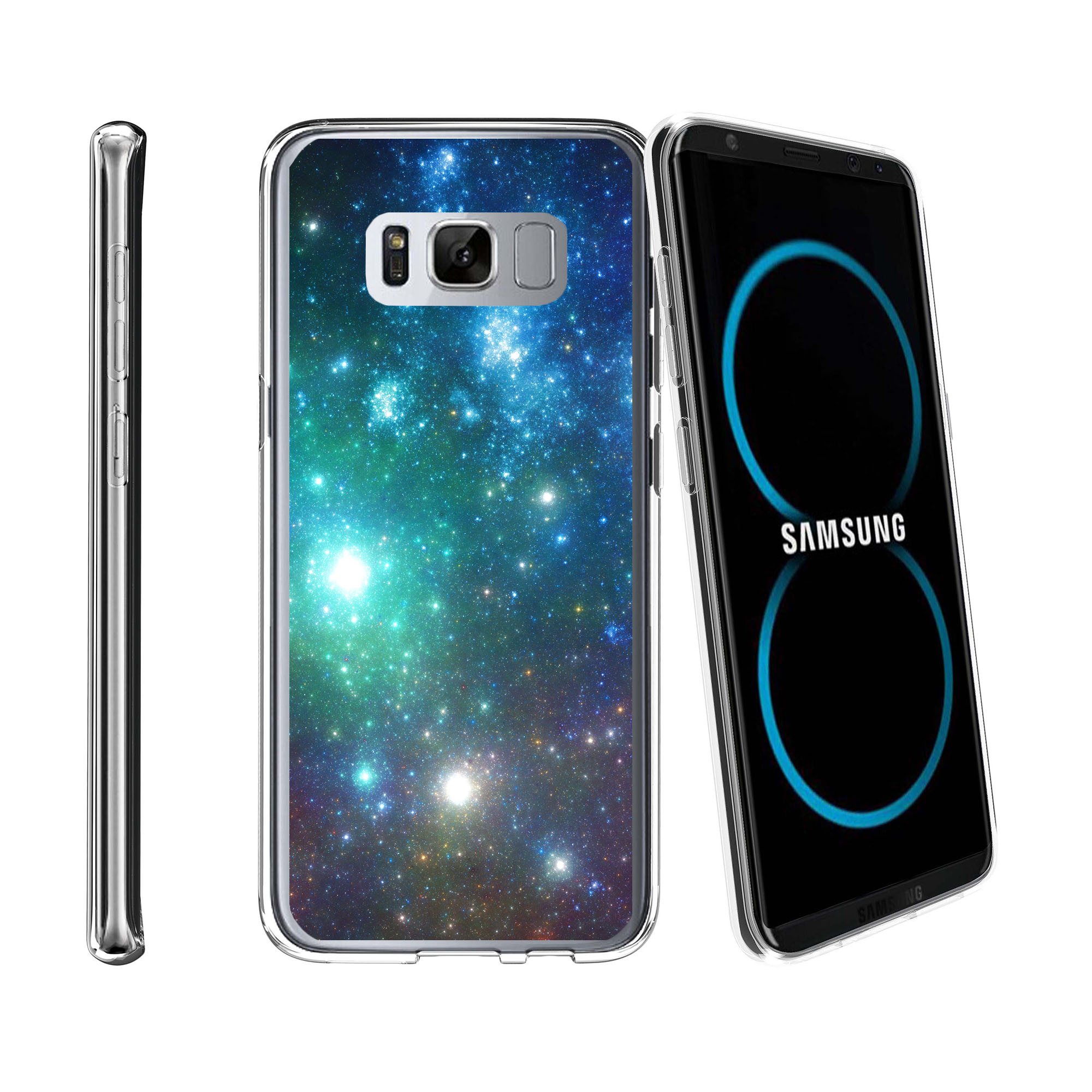 Case for Samsung Galaxy S8 SM-G950 | Galaxy S8 Transparent Silicone Case [ Flex Force ] Flexible Clear Case Galaxy Collection