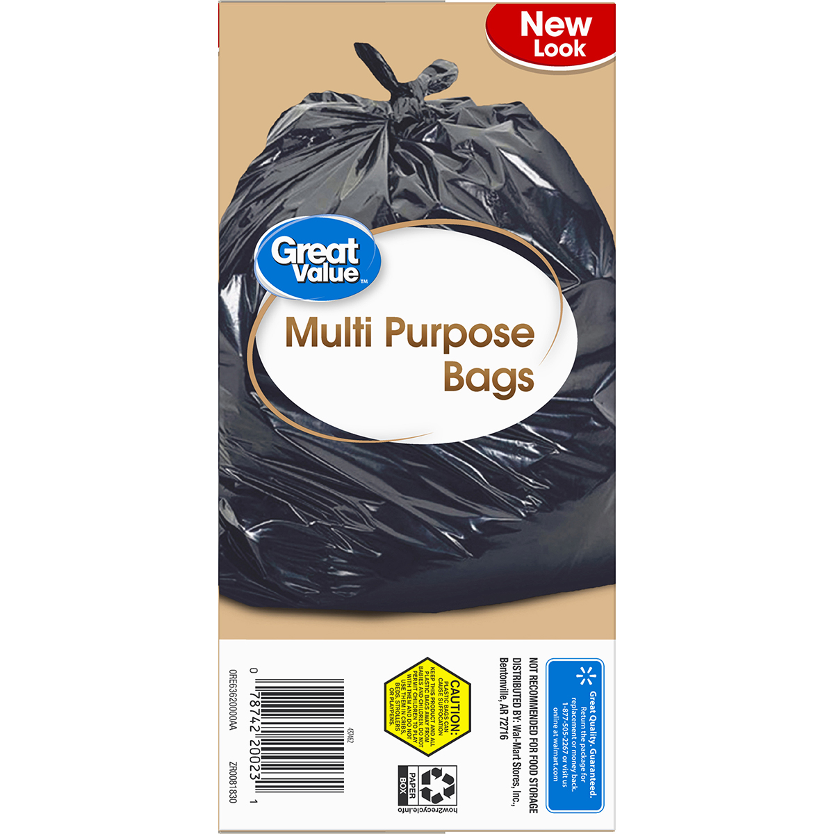 Great Value Large Multi Purpose Flap Tie Trash Bags 30 Gallon 40 Wiring Money From Walmart To Count