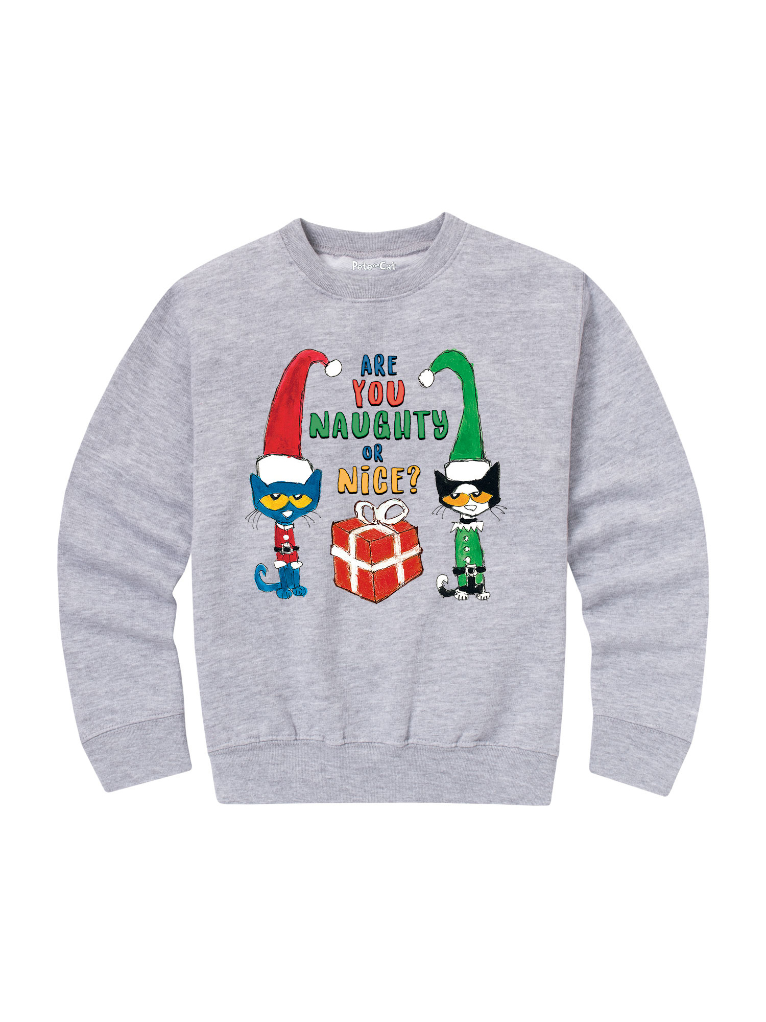 Ptc Naughty Or Nice - Toddler Crew Fleece