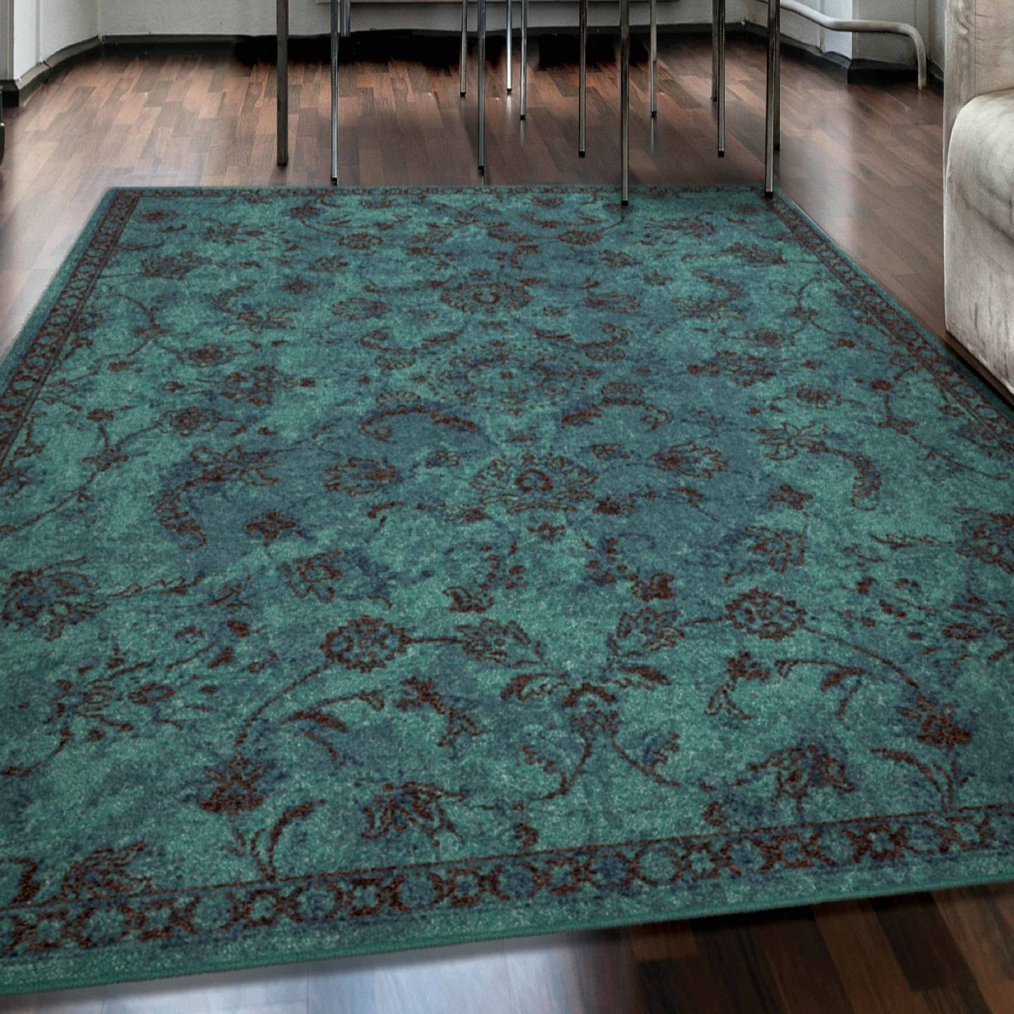 Click here to buy Tabriz Aqua Area Rug by Orian Rugs Inc.