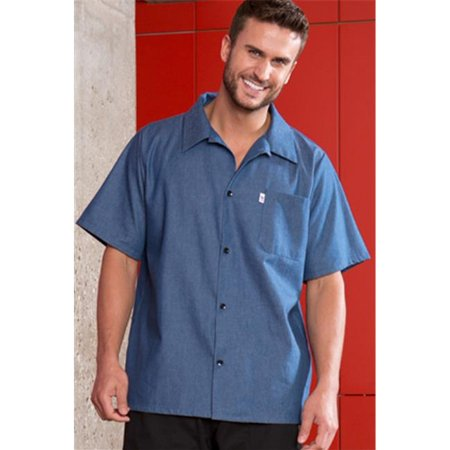 vtex 0920c-1705 100 percent cotton denim utility shirt, extra
