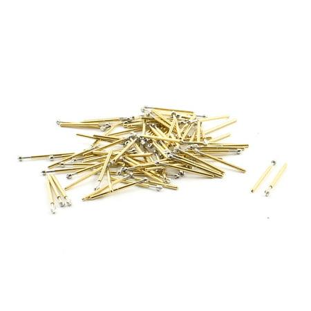 Unique Bargains 100PCS Spring Test Probes PCB Testing Pins 1.5mm Dia Tip 17mm Length P75-LM2