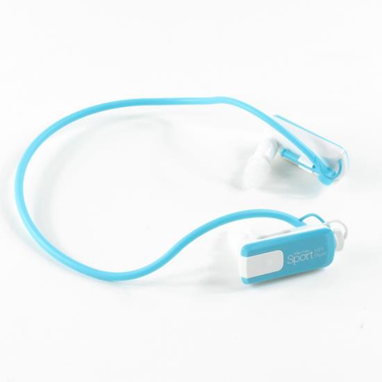 Wire Free Sport Waterproof 8GB MP3 Player, Aqua