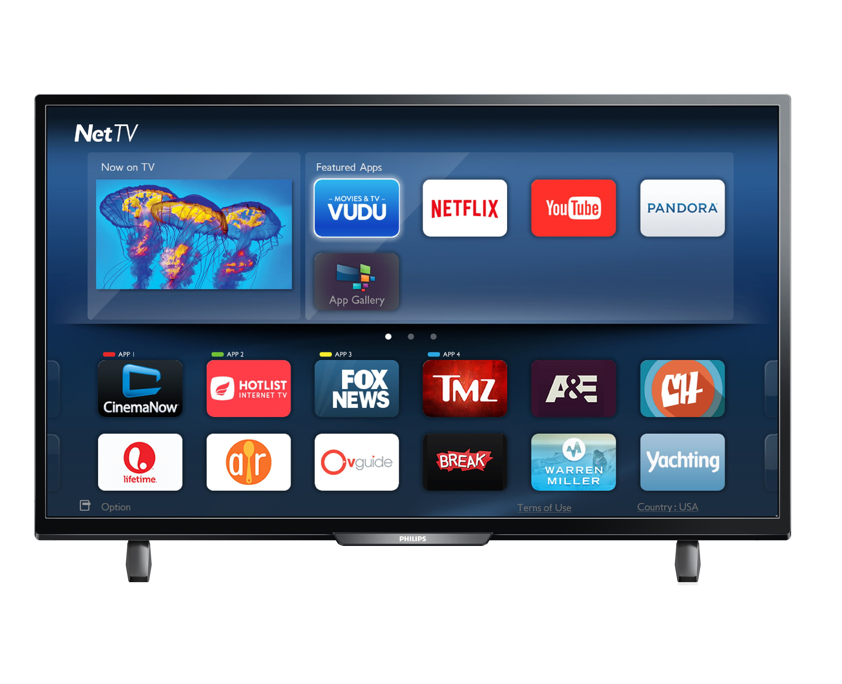 """40"""" Philips 40PFL4901 F7 2K Smart LED HD TV by Philips"""