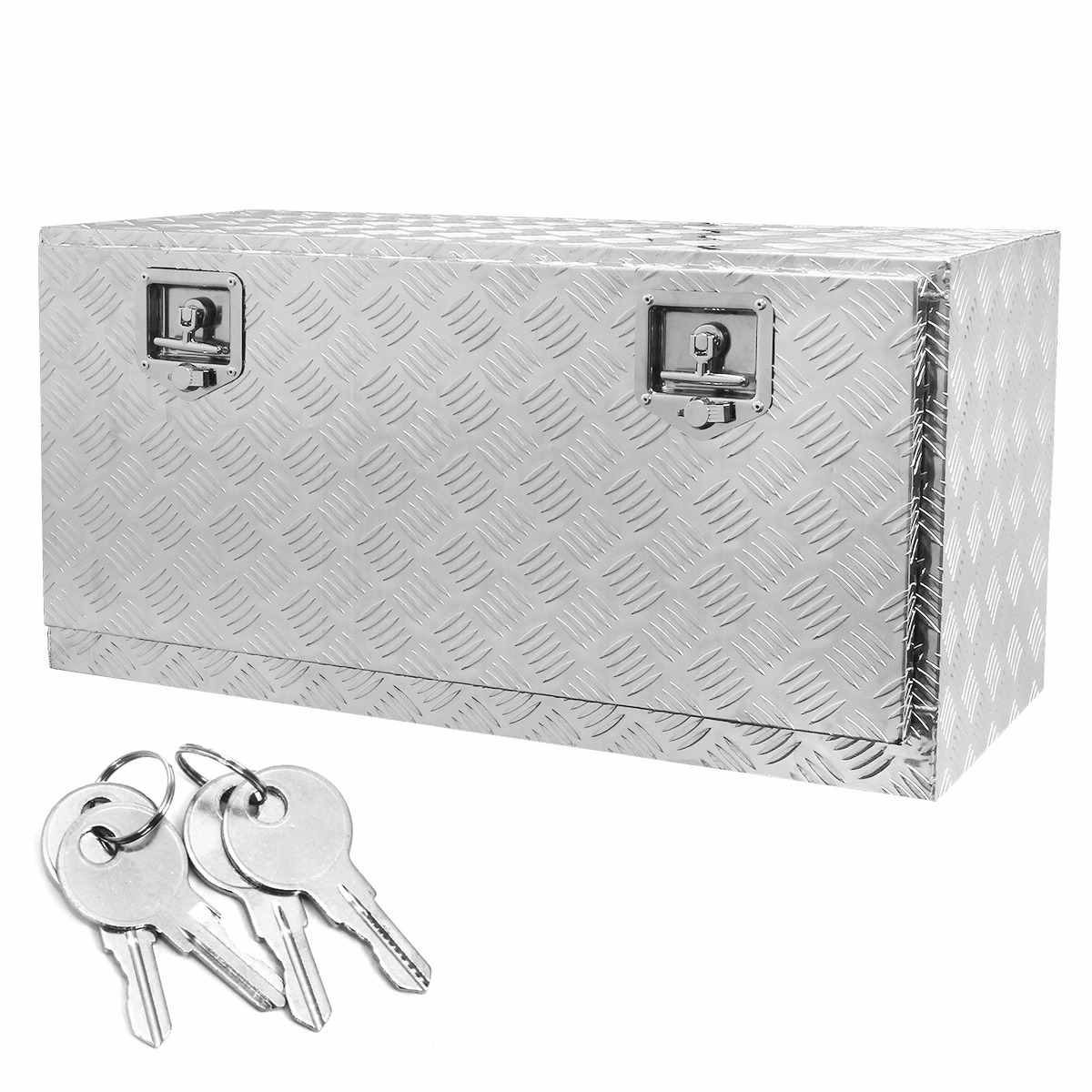"36"" Truck Tool Box Aluminum Pickup Flat Bed with Build-in Lock"