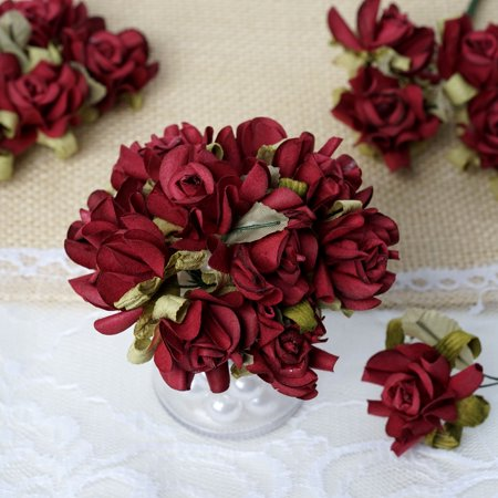 BalsaCircle 60 Open Craft Roses - Mini Flowers for DIY Wedding Party Favors Decorations Supplies