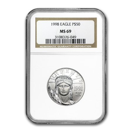 1998 1 2 Oz Platinum American Eagle Ms 69 Ngc