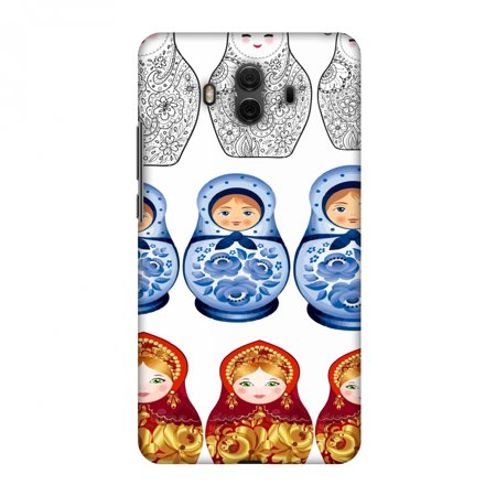 Huawei Mate 10 Case, Premium Handcrafted Printed Designer Hard Snap on Shell Case Back Cover with Screen Cleaning Kit for Huawei Mate 10 - Matryoshka dolls- Russia