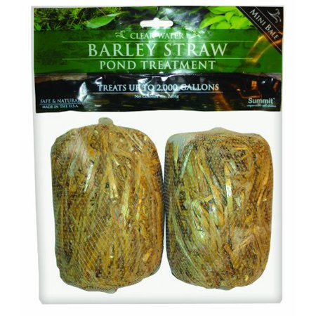 Summit 125 Clear-Water Barley Straw Bales, 2-Pack Treats up to 1000-Gallon - 2Pack ()
