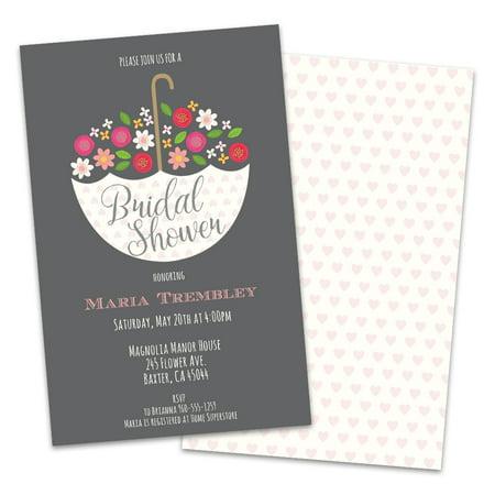 Personalized Umbrella Bridal Shower Invitations](Bridal Brunch Invitations)