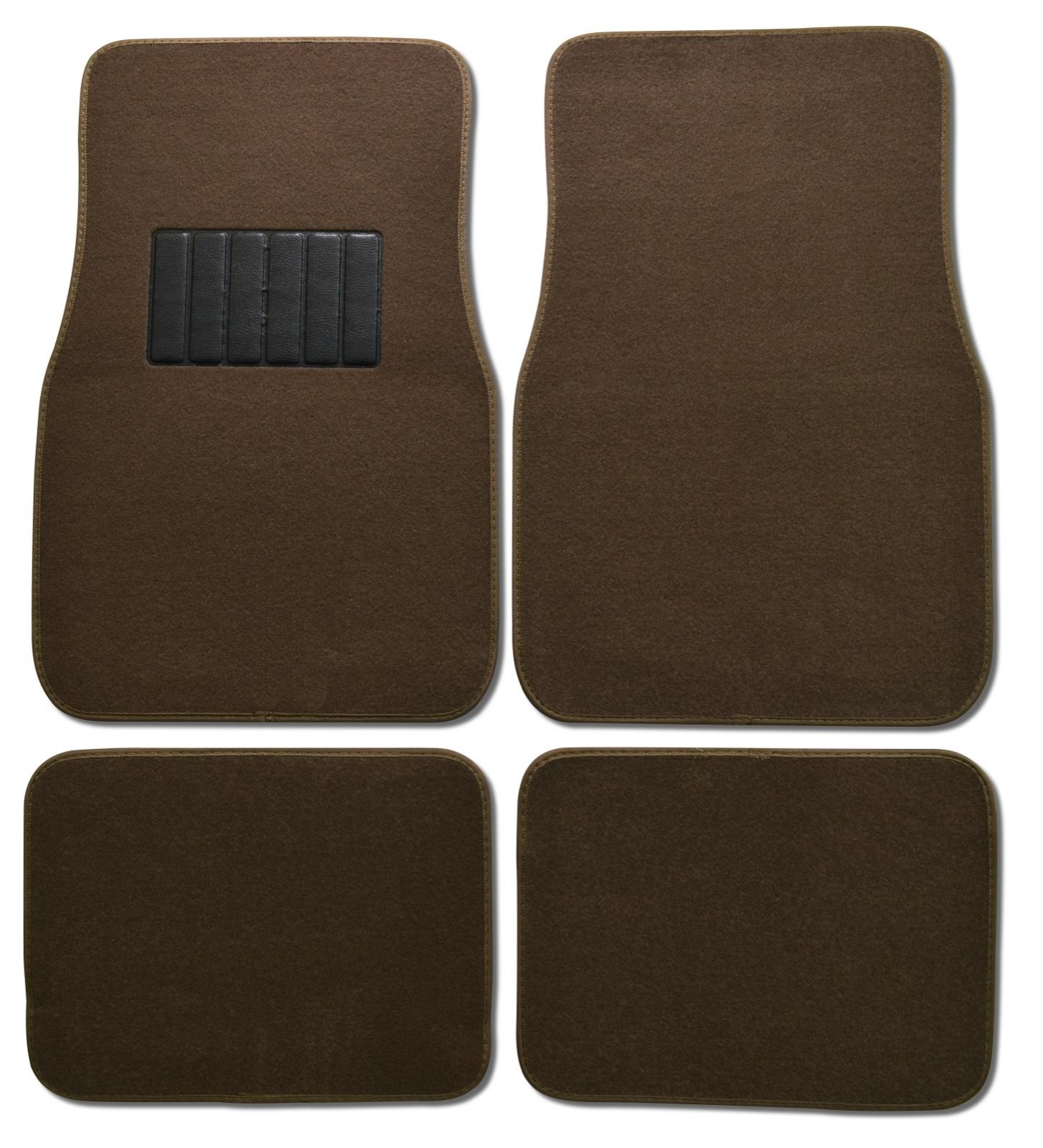 BDK Car Floor Mats 4 Pieces Carpet Protection - Universal Fit for Car, SUV, VA & Truck, Front & Rear