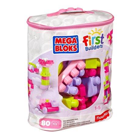 Big Bulding Bag Pink 80 pcs. - Building Set by MEGA Bloks (DCH62) (Empire State Bulding)