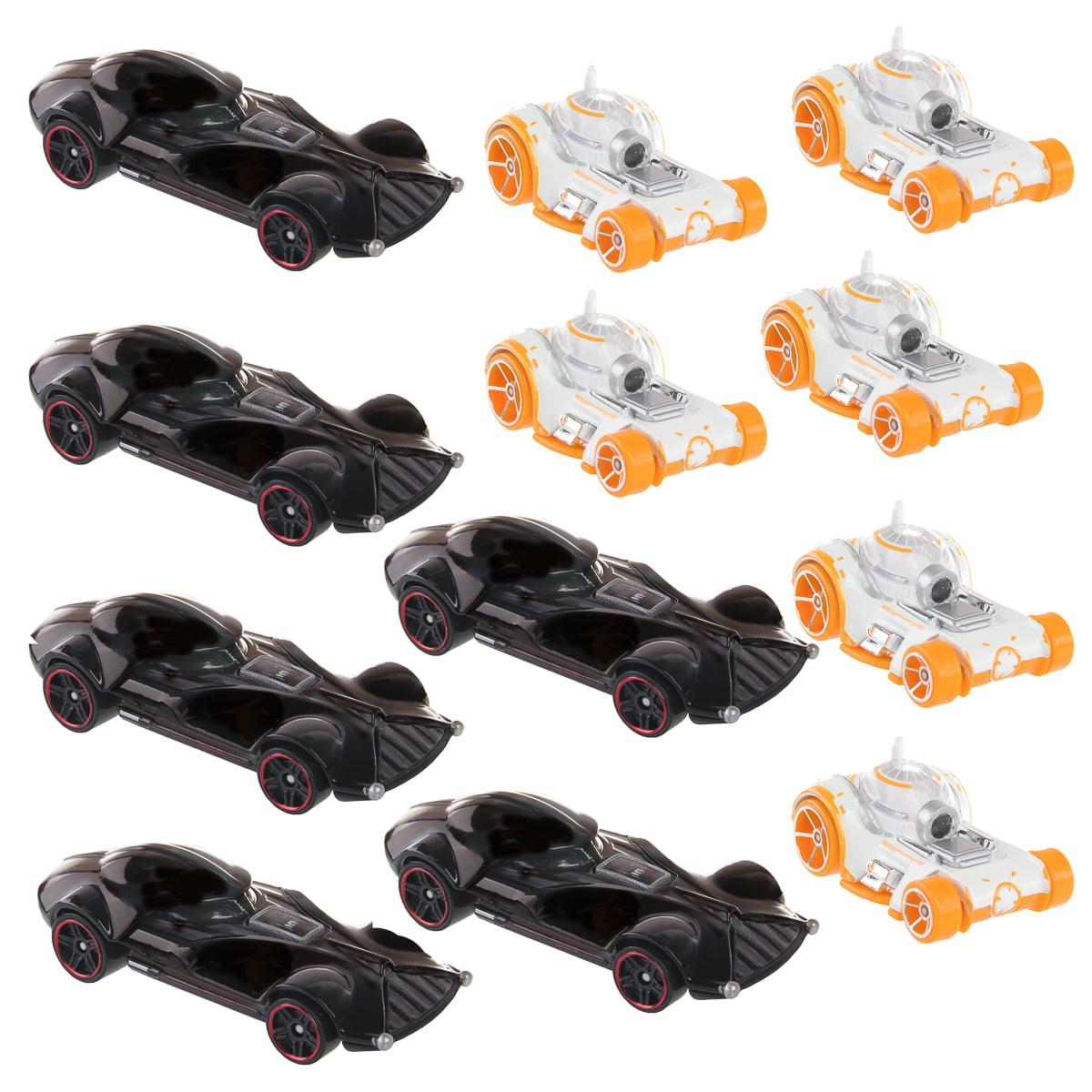 Hot Wheels (Set of 12) Disney Star Wars Carships Toy Set 6 Darth Vader & 6 BB-8 Character Cars Bulk