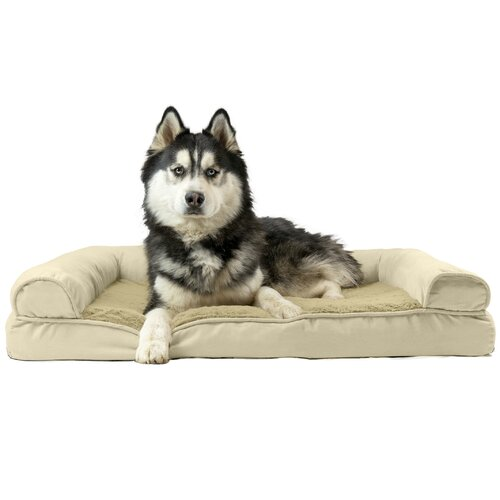 Tucker Murphy Pet Asay Plush and Suede Cooling Gel Top Dog Sofa